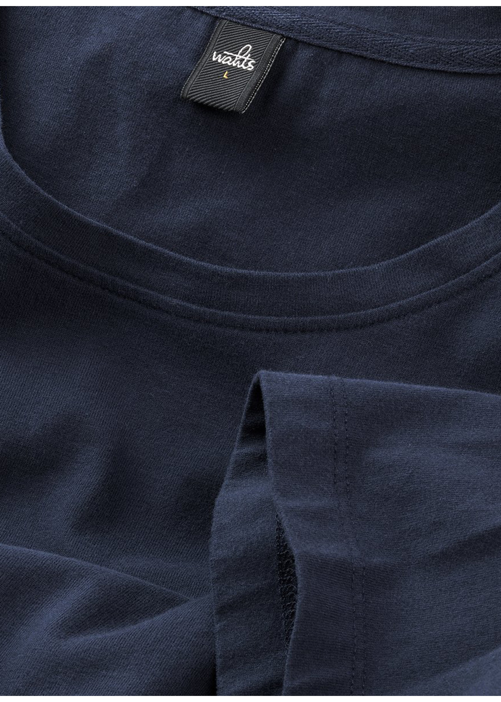 Wahts Woods crewneck tshirt dark navy