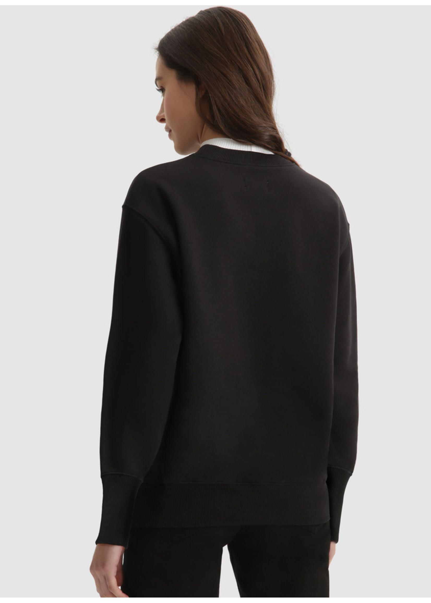 Woolrich Logo Fleece Sweatshirt Black