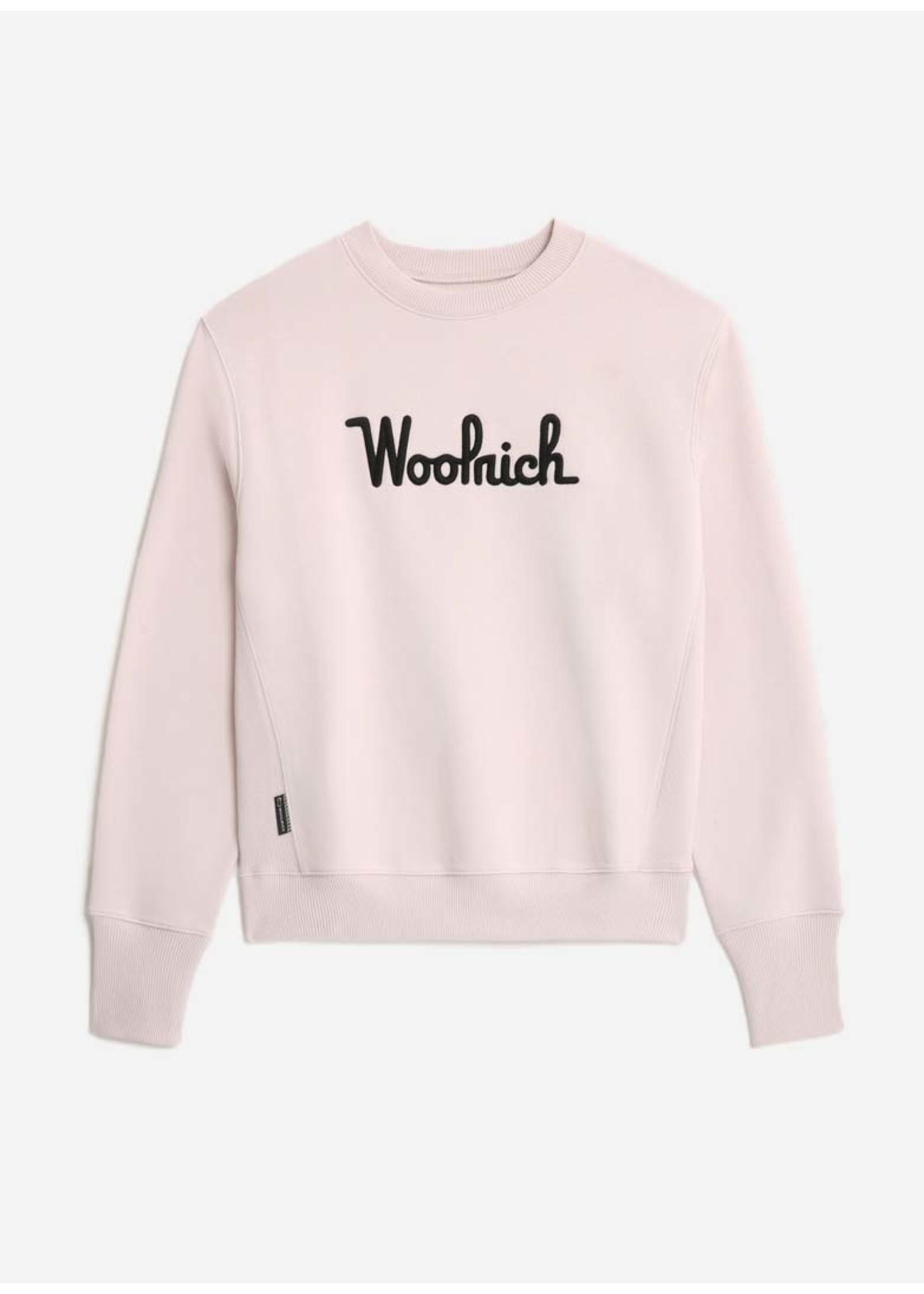 Woolrich Logo Fleece Sweatshirt Pearl Rose