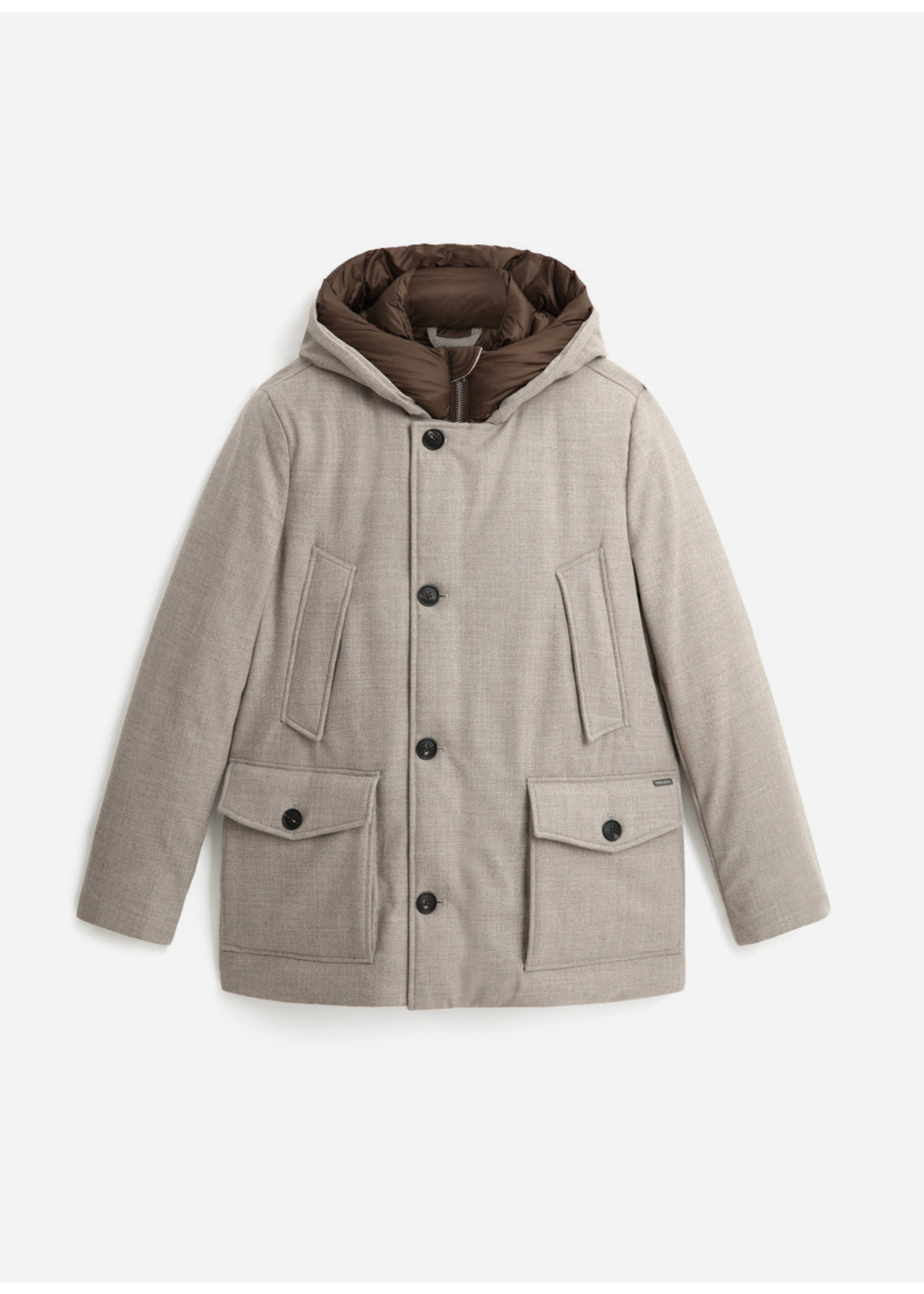 Woolrich Arctic Luxury Eco Wool Parka Black Sheep Beige