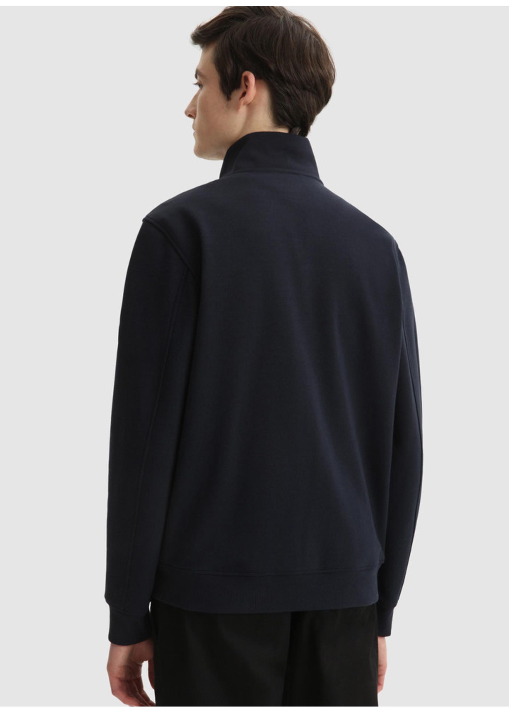 Woolrich Interlock Full Zip Track Melton Blue