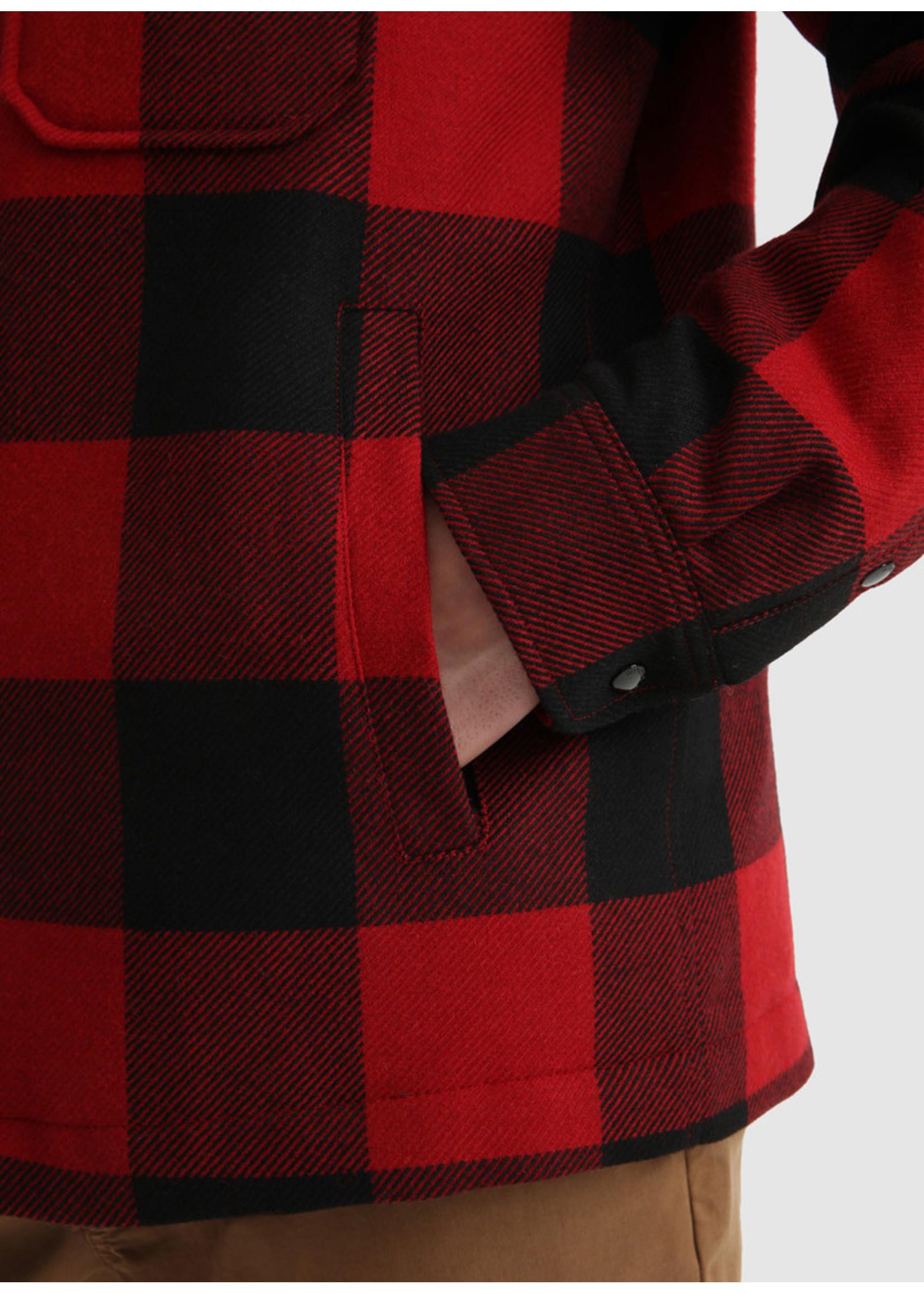 Woolrich Alaskan Wool Check Overshirt Red Buffalo