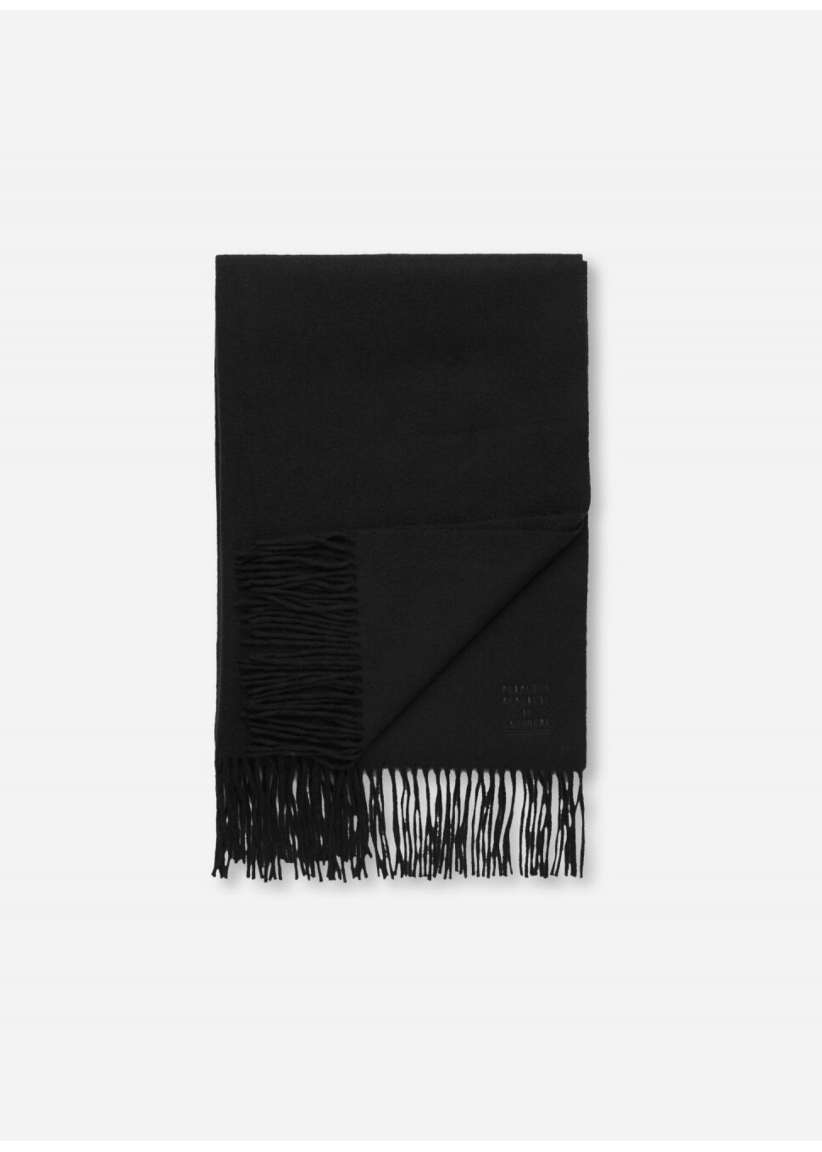 People's Republic of Cashmere Original Woven Scarf Black