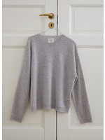 People's Republic of Cashmere Womens Boxy O-Neck Ash Grey