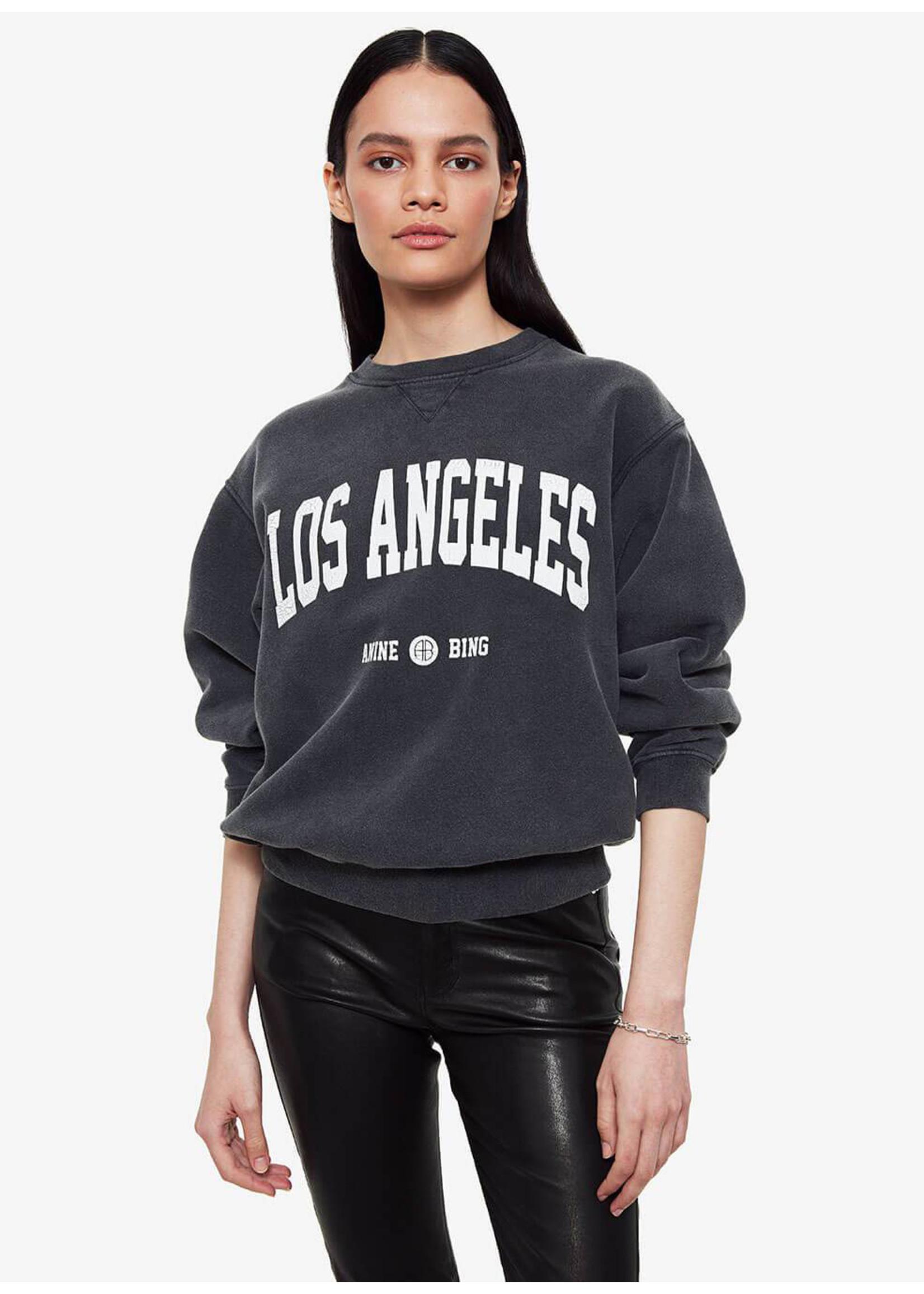Anine Bing Ramona Sweatshirt Los Angeles Washed Black