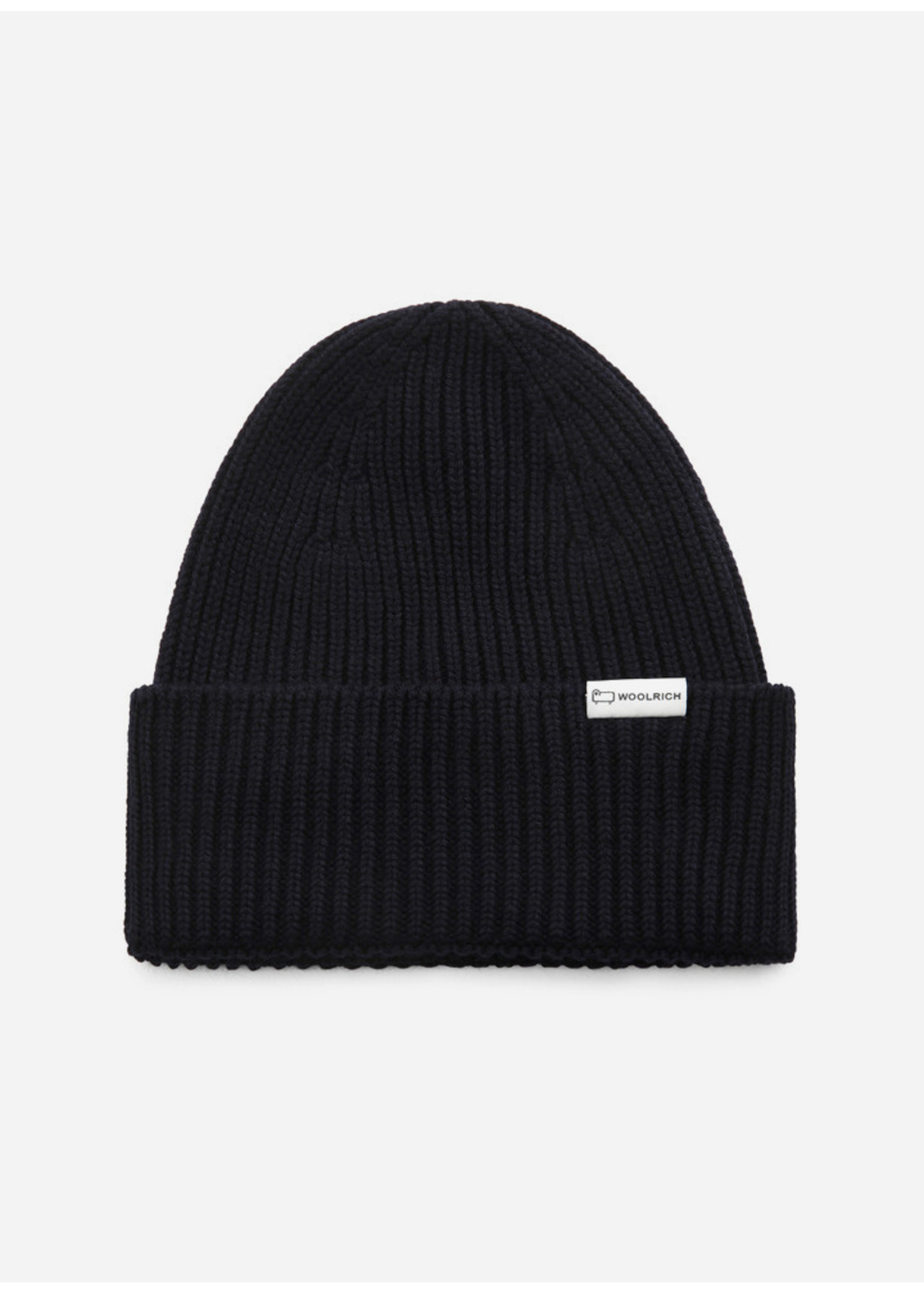 Woolrich Ribbed Beanie Hat Melton Blue