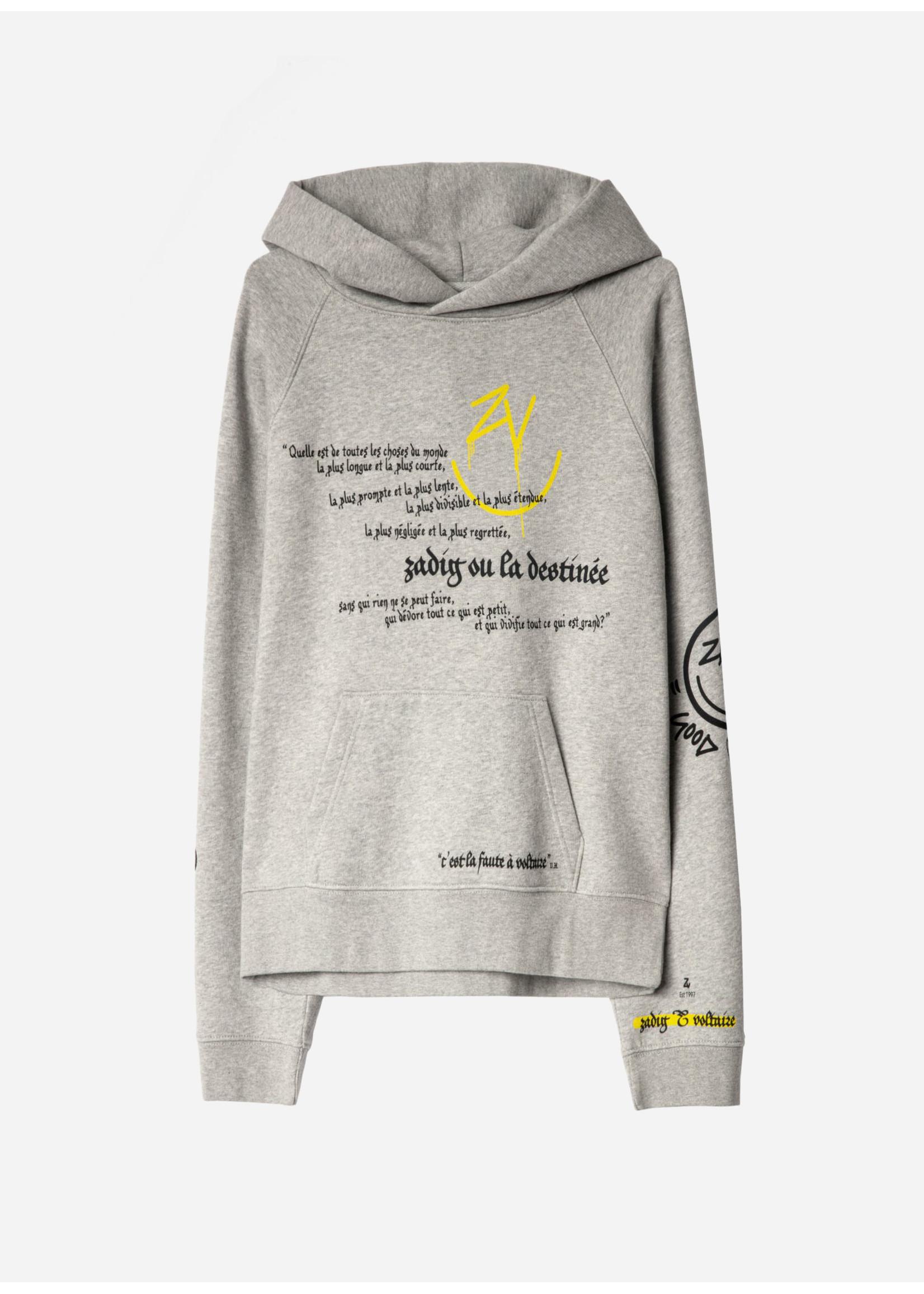 Zadig & Voltaire Georgy Multicusto Voltaire Happy Sweatshirt Grey