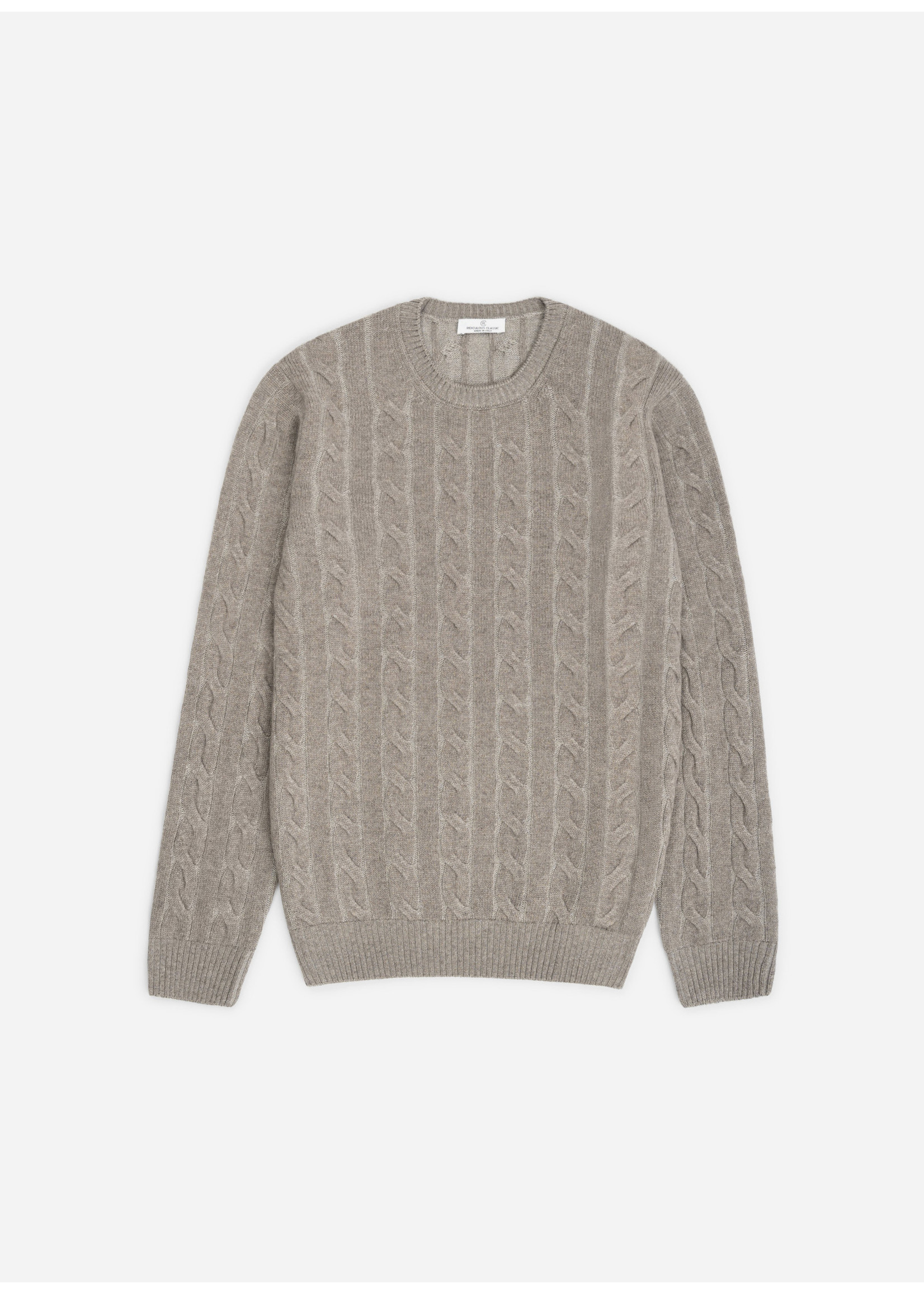 Ridiculous Classic Crewneck Cable Taupe