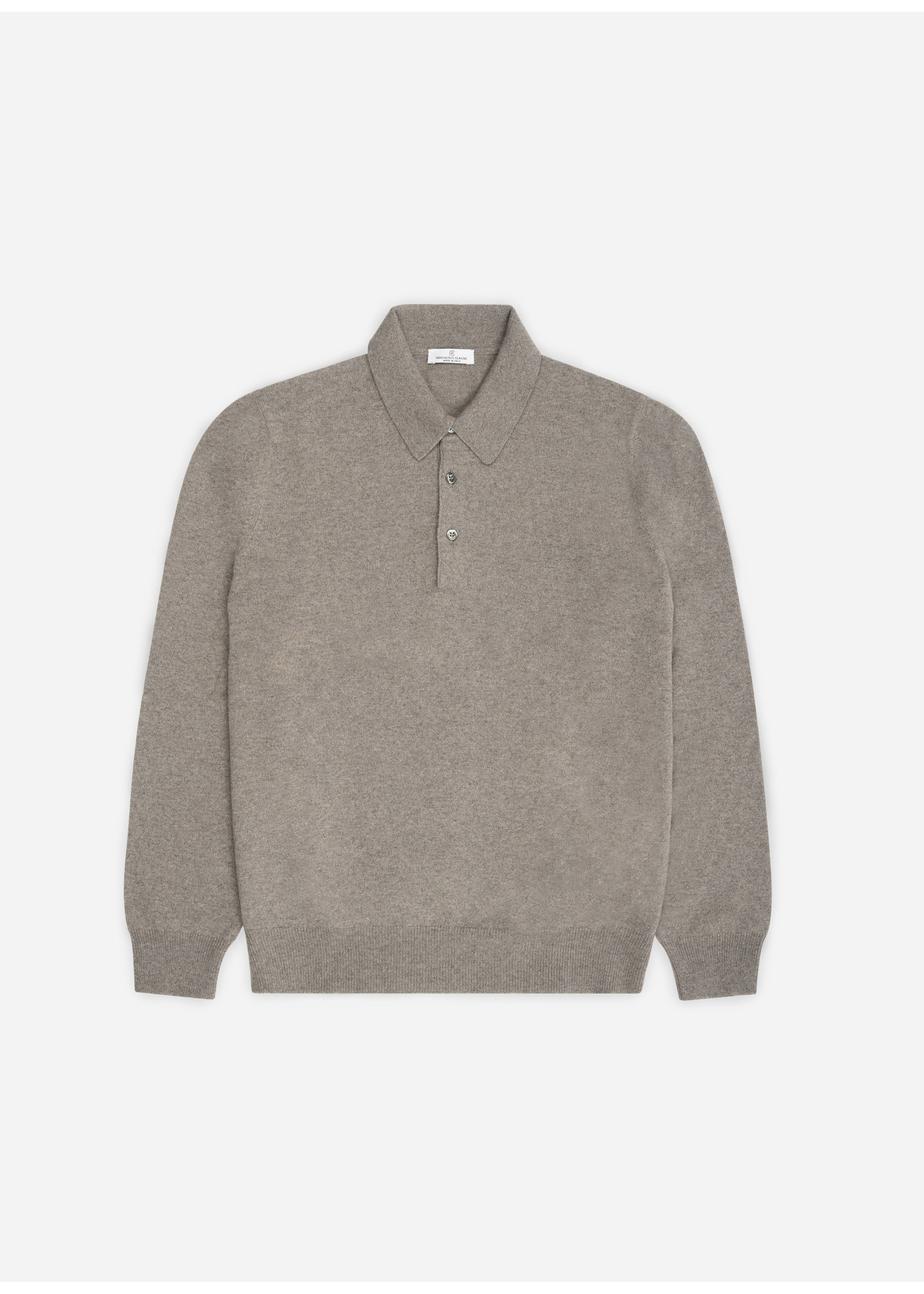 Ridiculous Classic Tennis Polo Long Sleeve Taupe