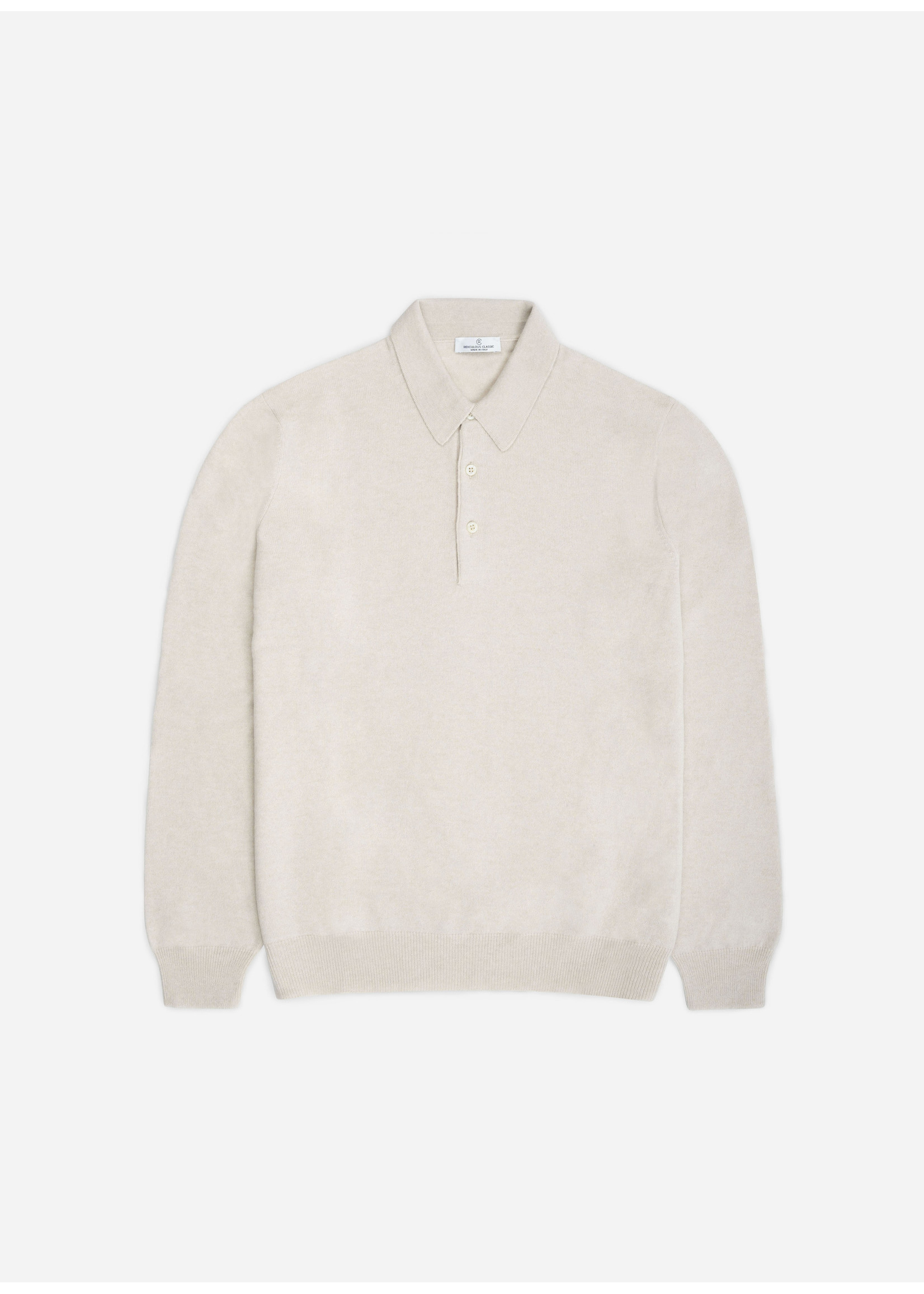 Ridiculous Classic Tennis Polo Long Sleeve Beige