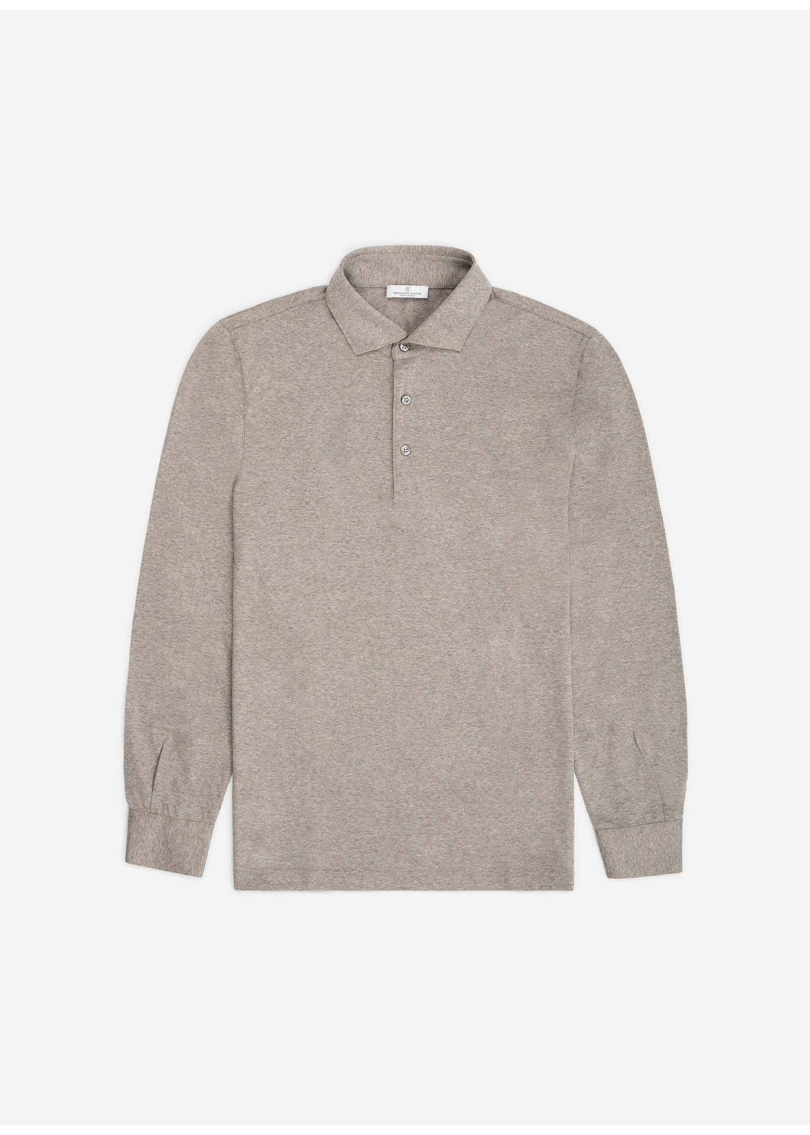 Ridiculous Classic Shirt Polo Long Sleeve Grey Taupe