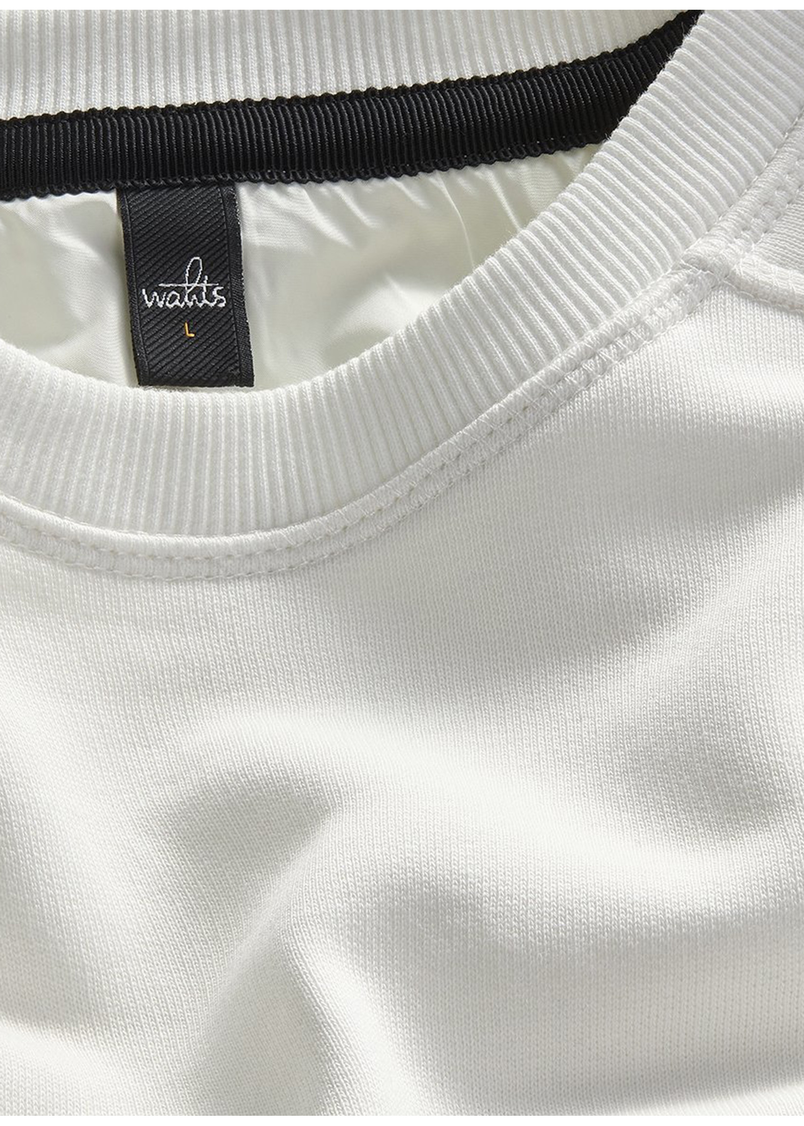 Wahts Moore crewneck sweater off white