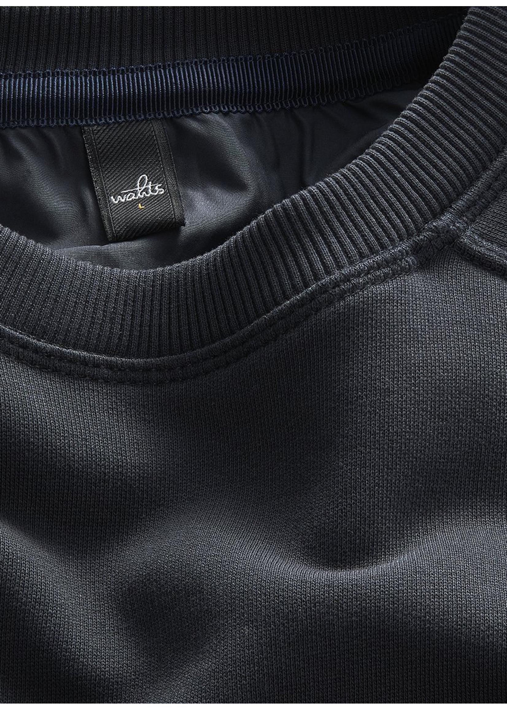 Wahts Moore crewneck sweater dark navy