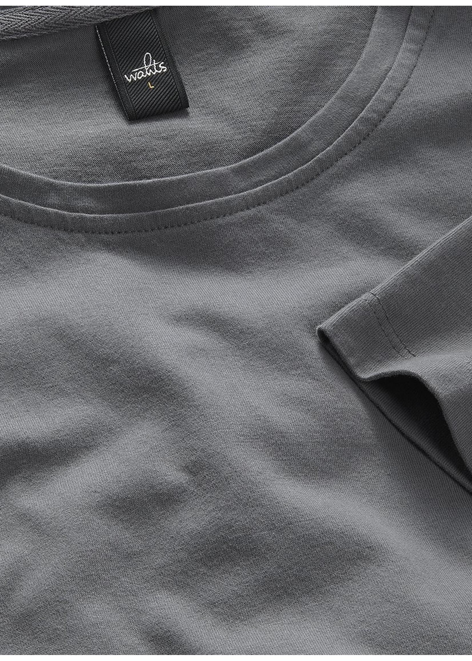 Wahts Woods crewneck tshirt mid grey