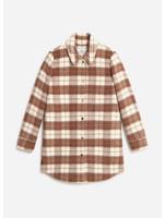 Woolrich Cozy Wool Medium Overshirt Woodwork Check