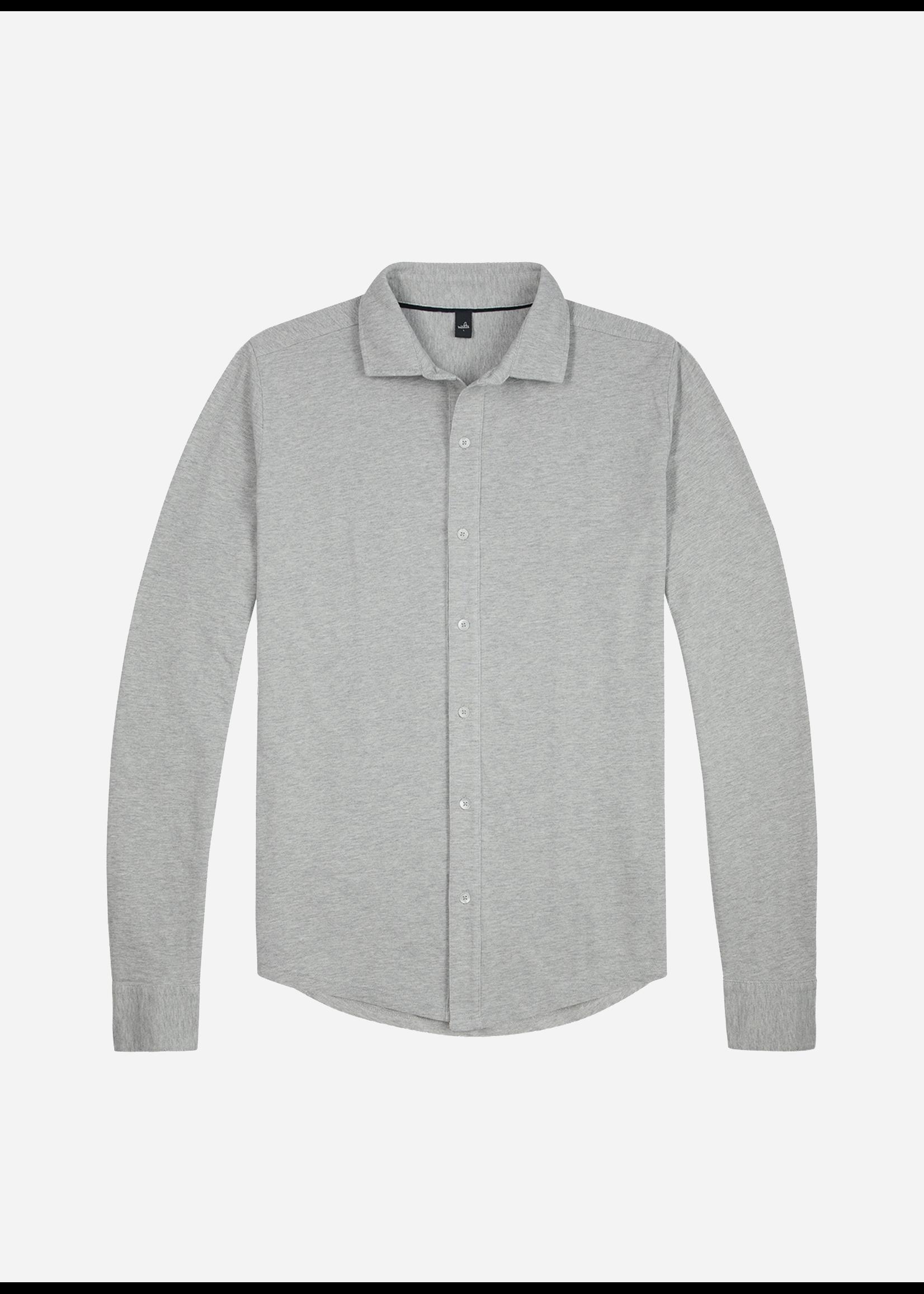 Wahts Barton Tailored Jersey Shirt Light Grey