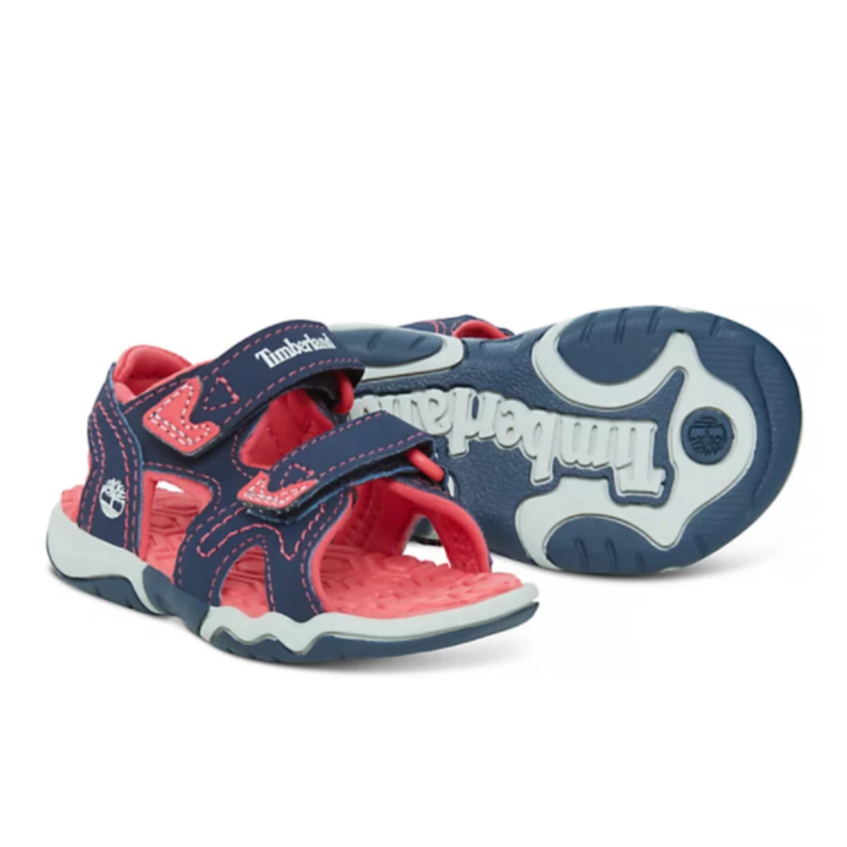 Timberland ADVENTURE SEEKER 2-STRAP SANDAL FOR TODDLER IN NAVY/PINK