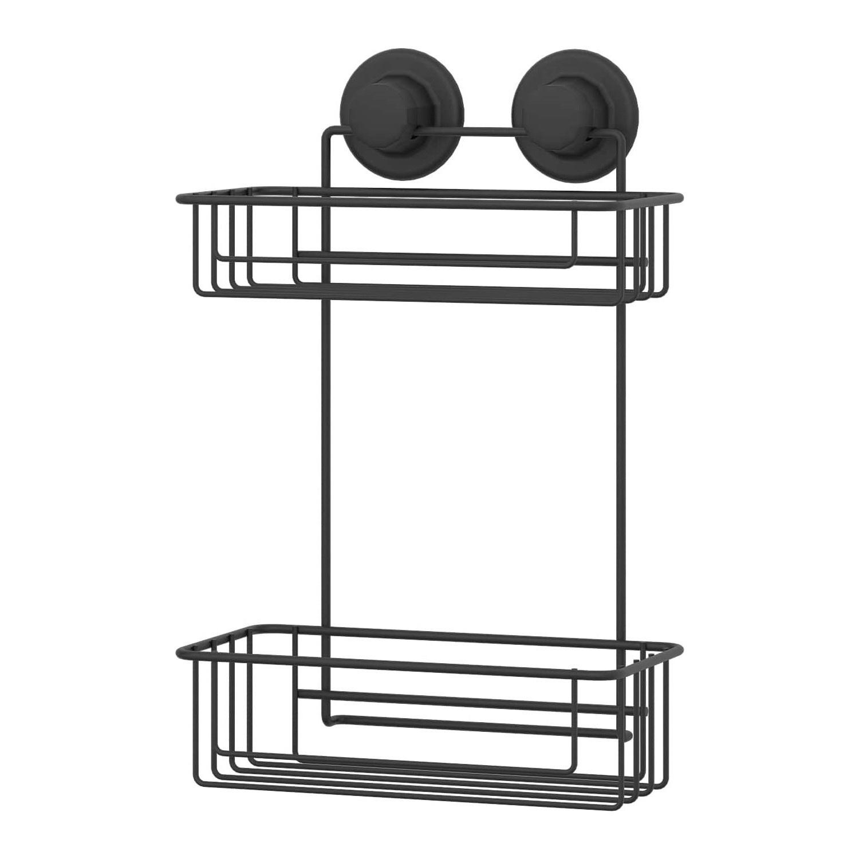 2 Tier Bath Shelf With Suction Cup, Bathroom Suction Shelf