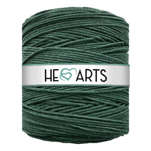 Hearts Triple Twist 4MM Dark Green