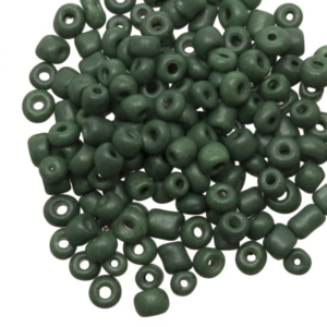 Hearts Rocailles 4MM Marble Spinach