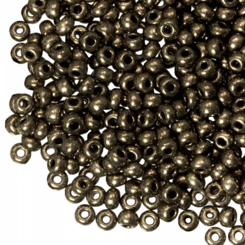 Hearts Hearts  Rocailles 4MM Metallic Dark Bronze