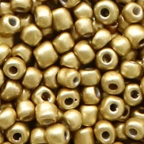 Hearts Hearts  Rocailles 4MM Champagne Metallic