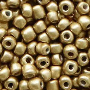 Hearts Rocailles 4MM Restrained Gold