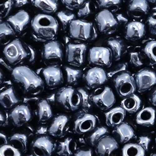 Hearts Hearts  Rocailles 4MM Black Hematite