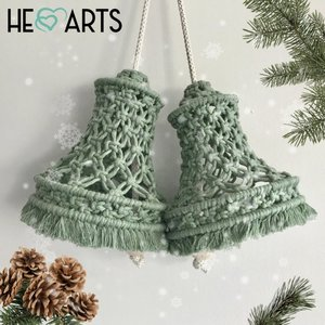 Hearts Kerstbellen macramé pakket