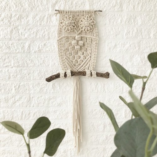 Hearts Patroon macrame uil