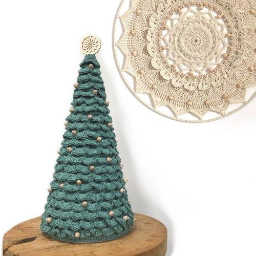Hearts Gehaakte kerstboom (40 cm hoog)