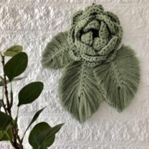 Hearts Patroon wandhanger roos (gratis bij materiaal)
