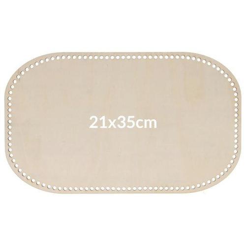 Hearts Blank hout geperforeerde bodem 21x35CM