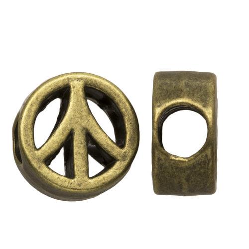 Hearts Hearts Metalen kraal Peace brons
