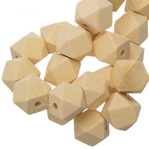 Hearts Hearts Blanke houten Kralen kubus 16 mm