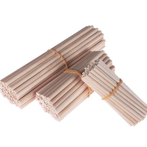 Hearts Blanke houten stokjes 10cm