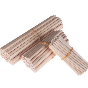 Hearts Blanke houten stokjes 15cm D 5MM