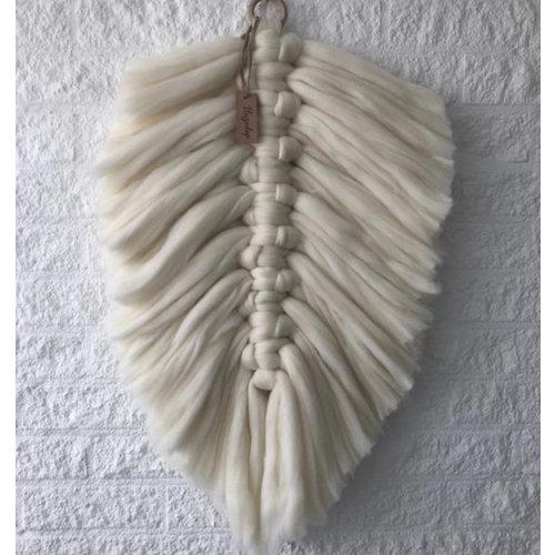 Hearts Pakket macramé veer wol (40 x 55 cm)