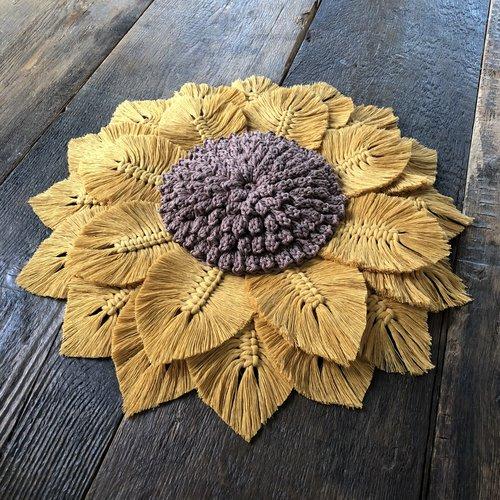 Pakket Sunflower Macramé en Haken
