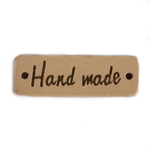Houten label handmade rechthoek