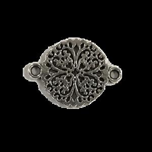 Tussenstuk mandala zilver