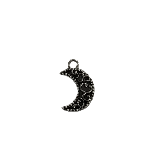 Zilveren bedel in de vorm van een maantje