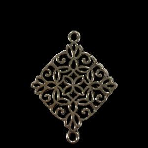 Tussenstuk vierkante mandala  zilver