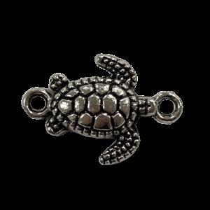 Tussenstuk schildpad zilver