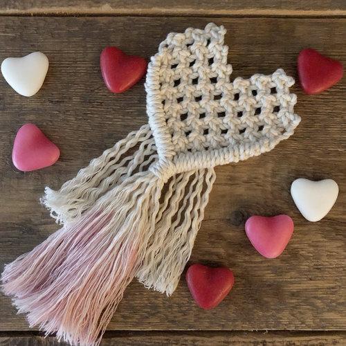 Hearts Pakket macrame heart met eipdye