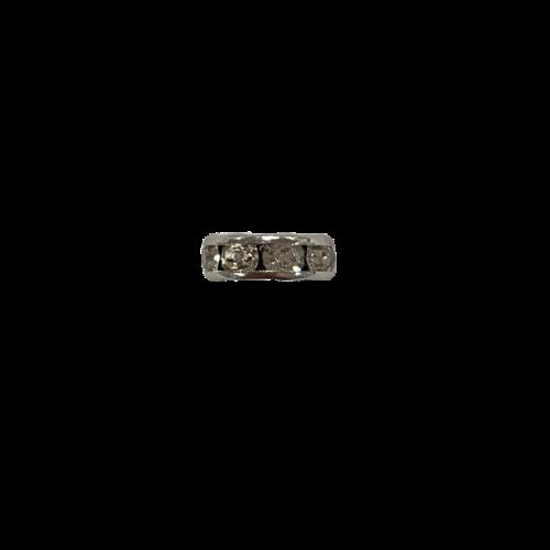 Zilveren bedel met diamantjes