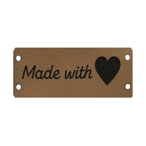 Label Made With Love Beige/Zwart