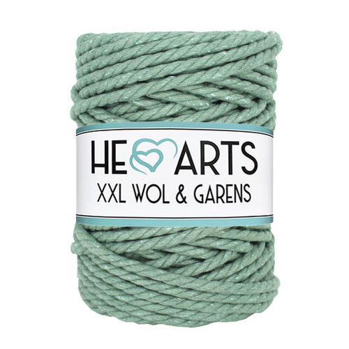 Hearts Triple Twist 5MM Sage Green 40M