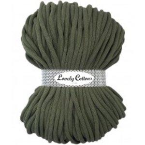 Lovely Cottons 9MM Gevlochten Dark Olive