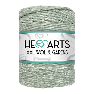 Hearts Triple Twist 5MM Eucalyptus/Ecru 100M